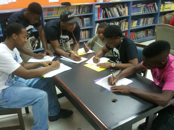 Young Moguls and other young men at work on their futures.